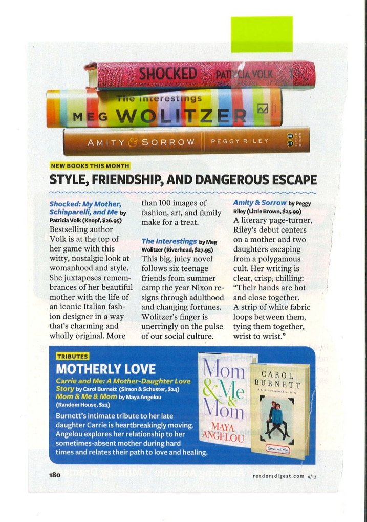 Amity and Sorrow Reader's Digest 4-1-13