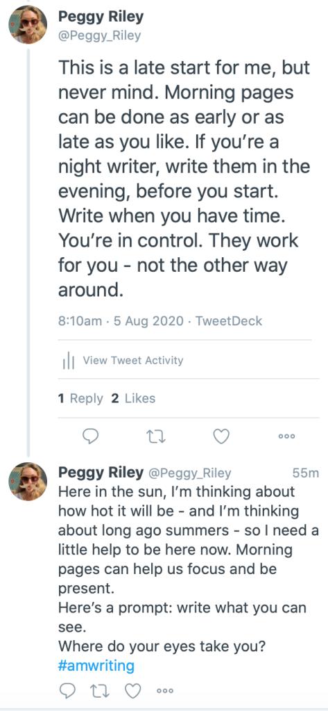 Screenshots from Twitter